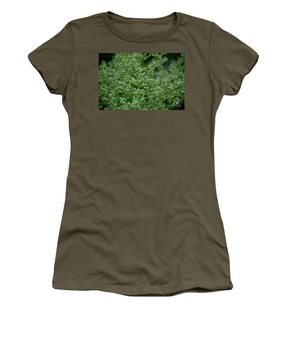 First Star Art Women's T-Shirt featuring the photograph Green Bulbs By Jammer by First Star Art