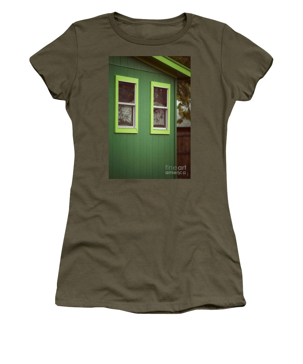 Women's T-Shirt (Athletic Fit) featuring the photograph Green House by Trish Mistric