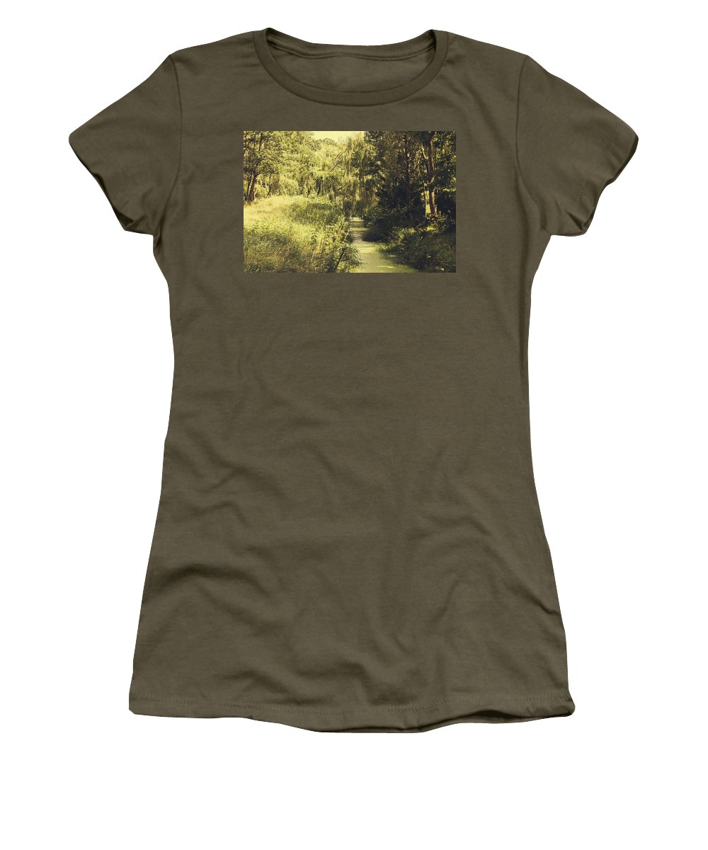 Creek Women's T-Shirt featuring the photograph Green Landscape by Pati Photography