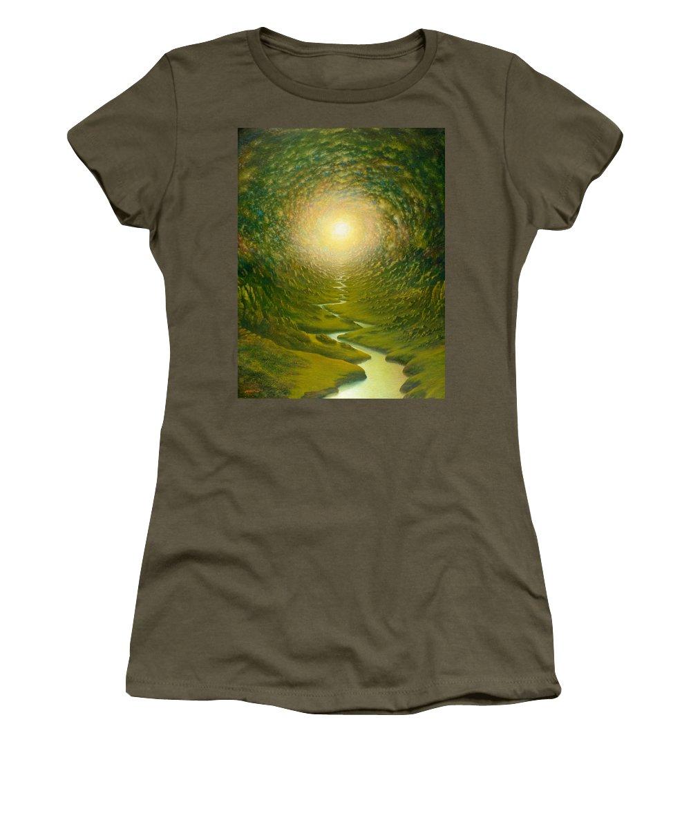 Sun Women's T-Shirt featuring the painting Green Light by Karma Moffett