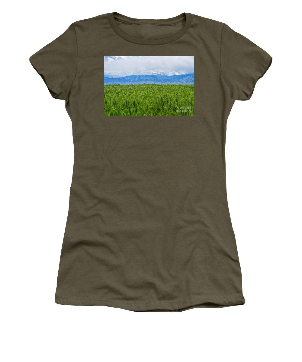 Pasture Women's T-Shirt featuring the photograph Green Pastures by Jim Garrison