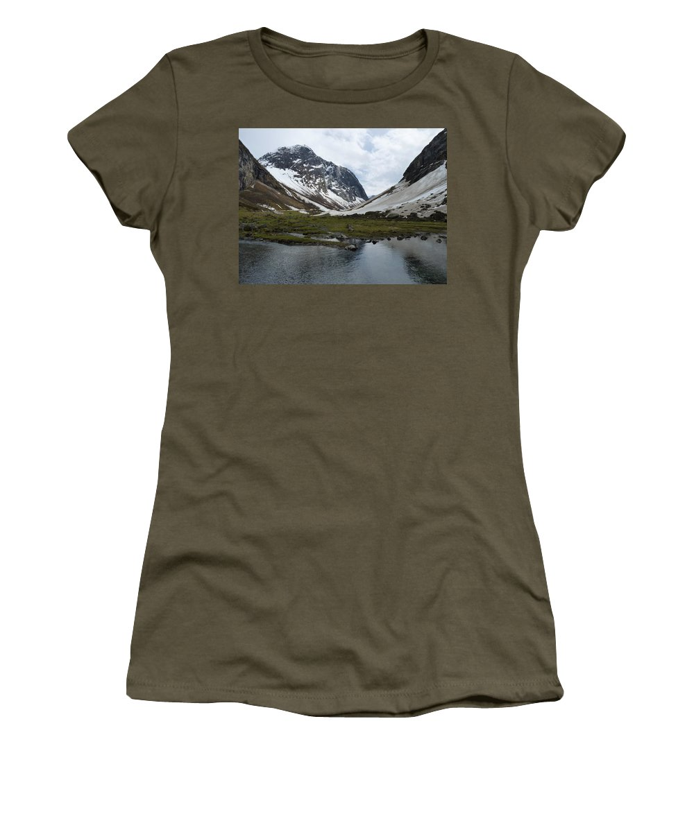 Women's T-Shirt (Athletic Fit) featuring the photograph Guarding The Clear Spring by Katerina Naumenko