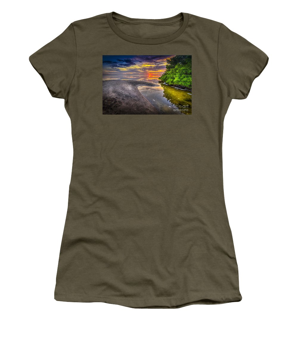 At Days End Women's T-Shirt featuring the photograph Gulf Stream by Marvin Spates