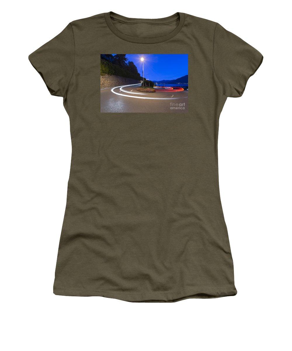 Hairpin Turn Women's T-Shirt featuring the photograph Hairpin Turn by Mats Silvan