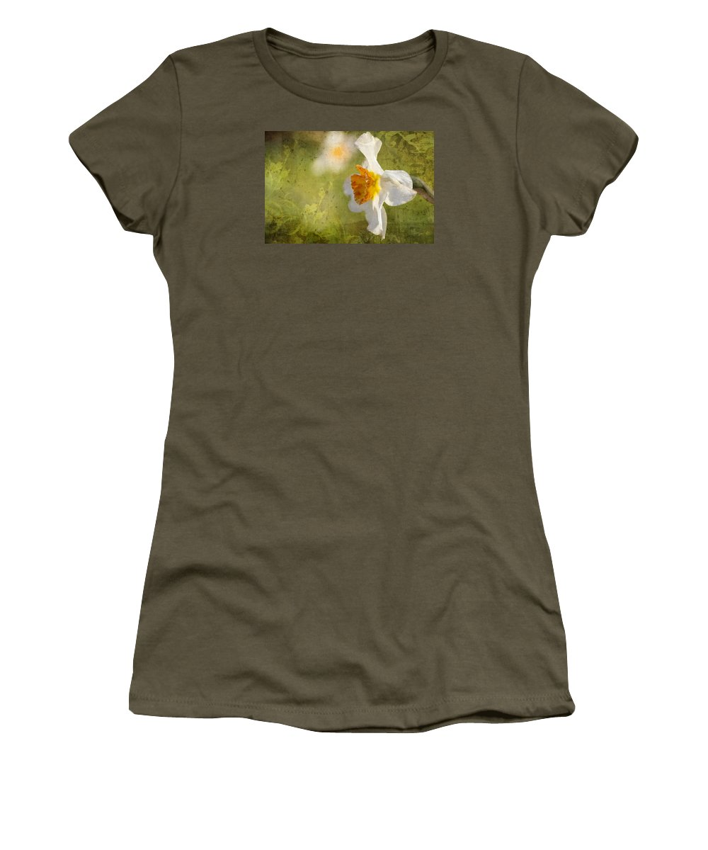 Flower Artwork Women's T-Shirt featuring the photograph Halfway There by Mary Buck