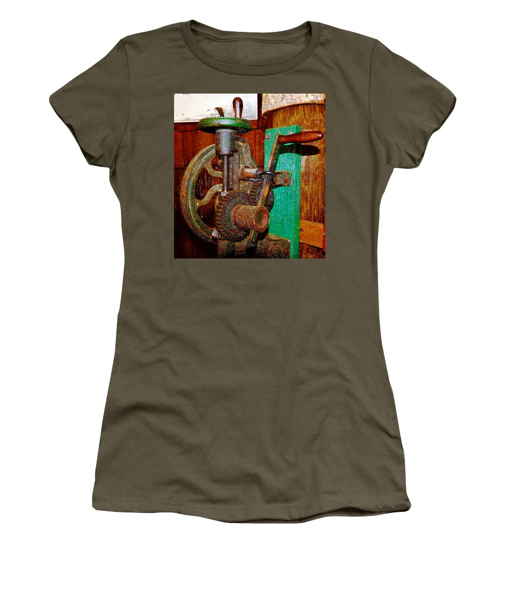 Gears Women's T-Shirt featuring the photograph Hand Cranked by David Lee Thompson