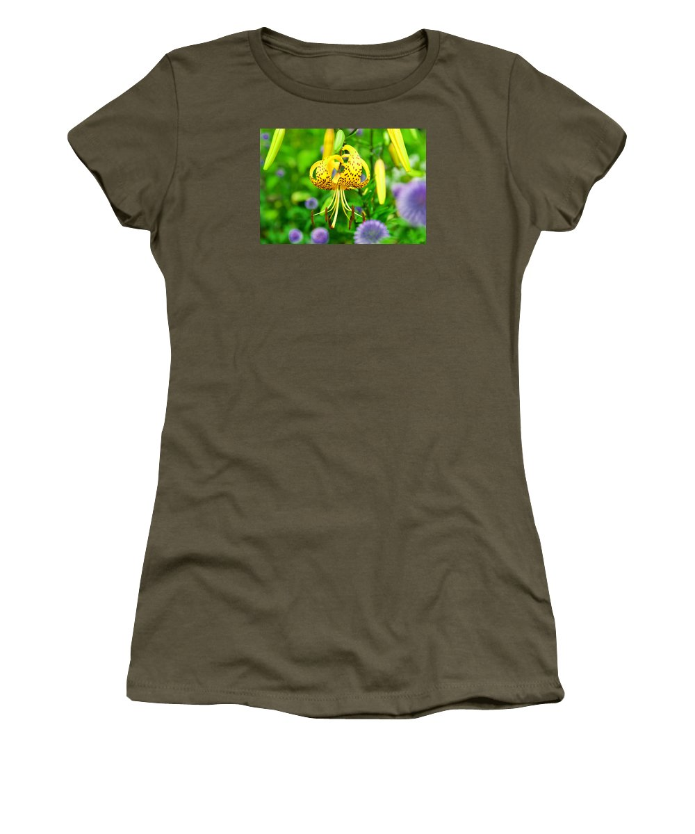 Flower Women's T-Shirt (Athletic Fit) featuring the photograph Hanging Lily by James Darmawan