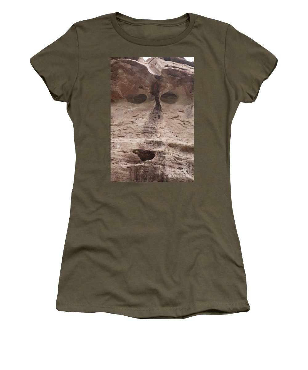 Rock Cliff Women's T-Shirt featuring the photograph Happy Cliff by Brandi Maher