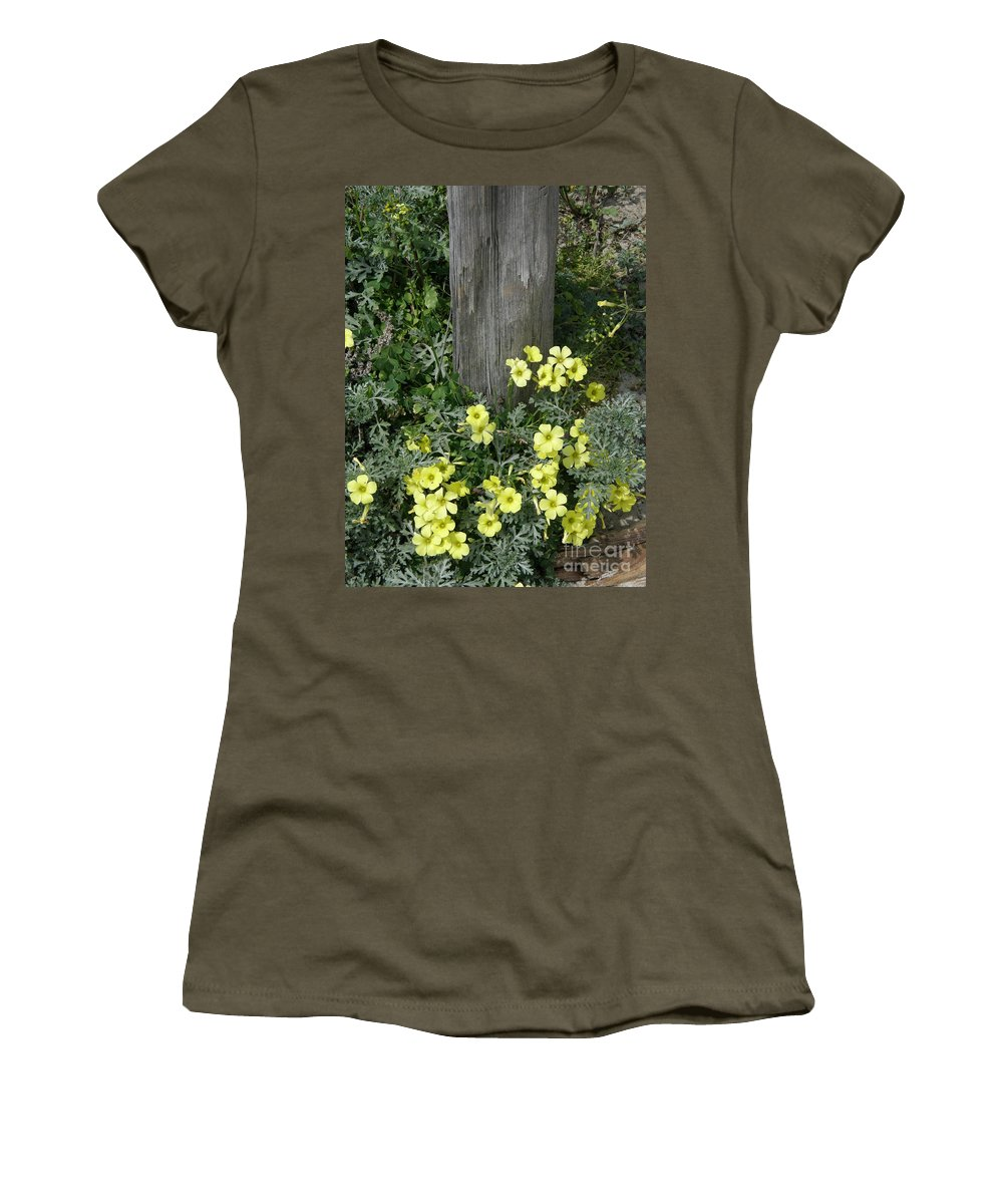 Happy Women's T-Shirt featuring the photograph Happy Yellow Flowers by Bev Conover