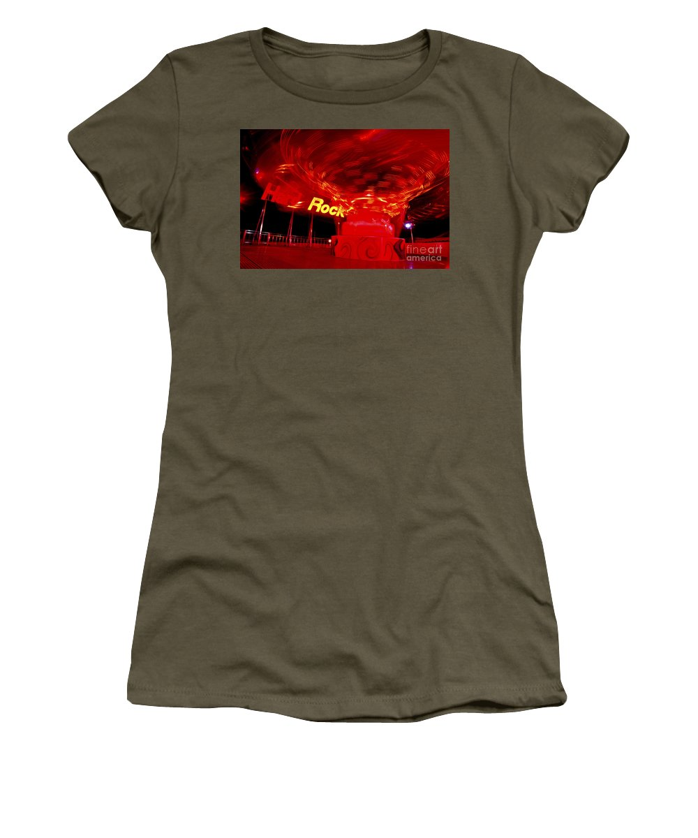 Carnival Women's T-Shirt featuring the photograph Hard Rock Hard Ride by Paul W Faust - Impressions of Light