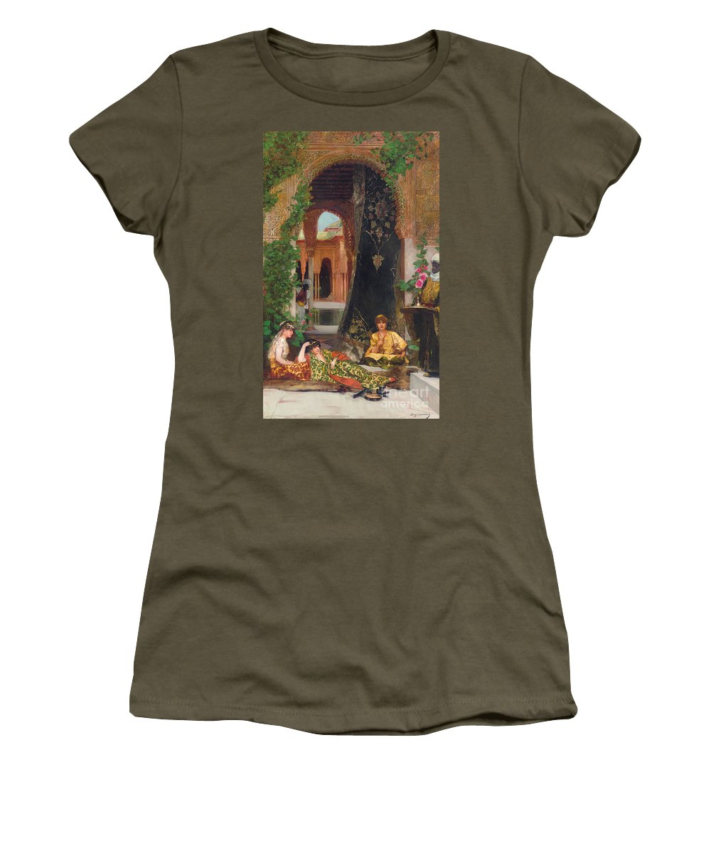 Constant Women's T-Shirt featuring the painting Harem Women by Jean Joseph Benjamin Constant