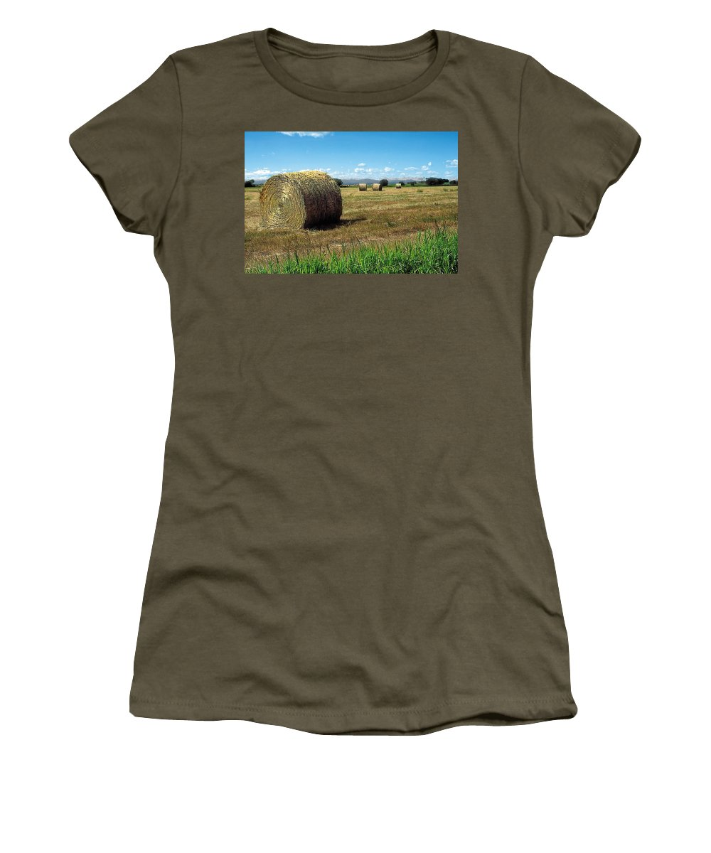 Scenic Women's T-Shirt featuring the painting Harvest 3 by Terry Reynoldson