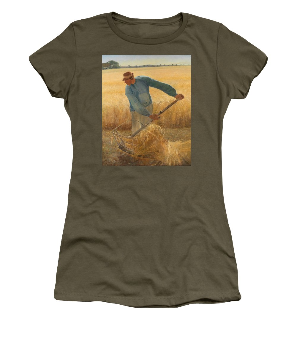 Laurits Andersen Ring Women's T-Shirt featuring the painting Harvest by Laurits Andersen Ring