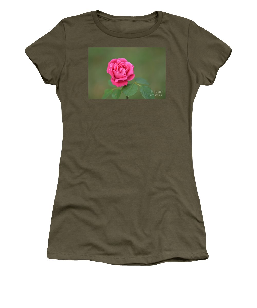 Rose Women's T-Shirt featuring the photograph Heart Of My Heart Rose by Barb Dalton