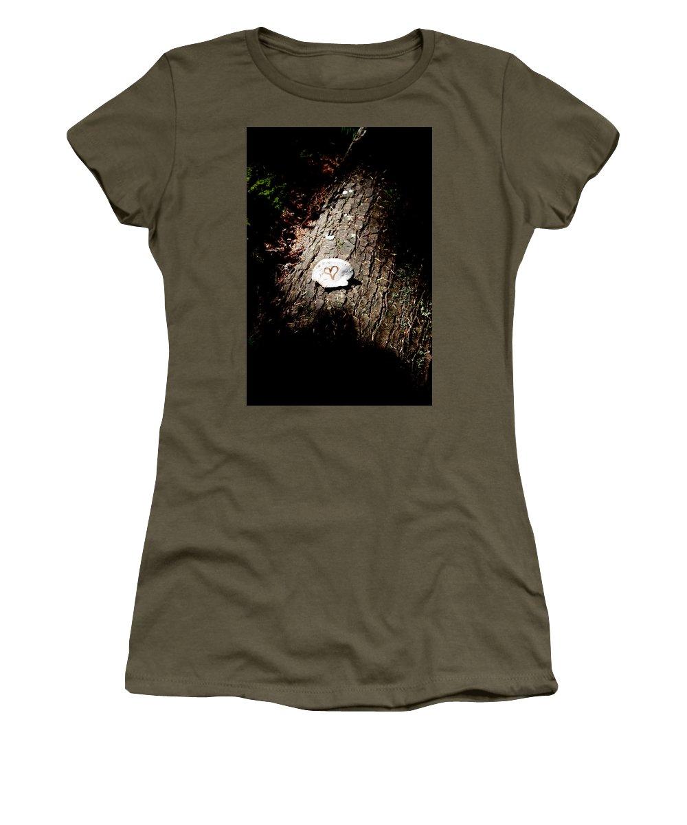 Heart Women's T-Shirt featuring the photograph Heart Shape Stop by Edward Hawkins II