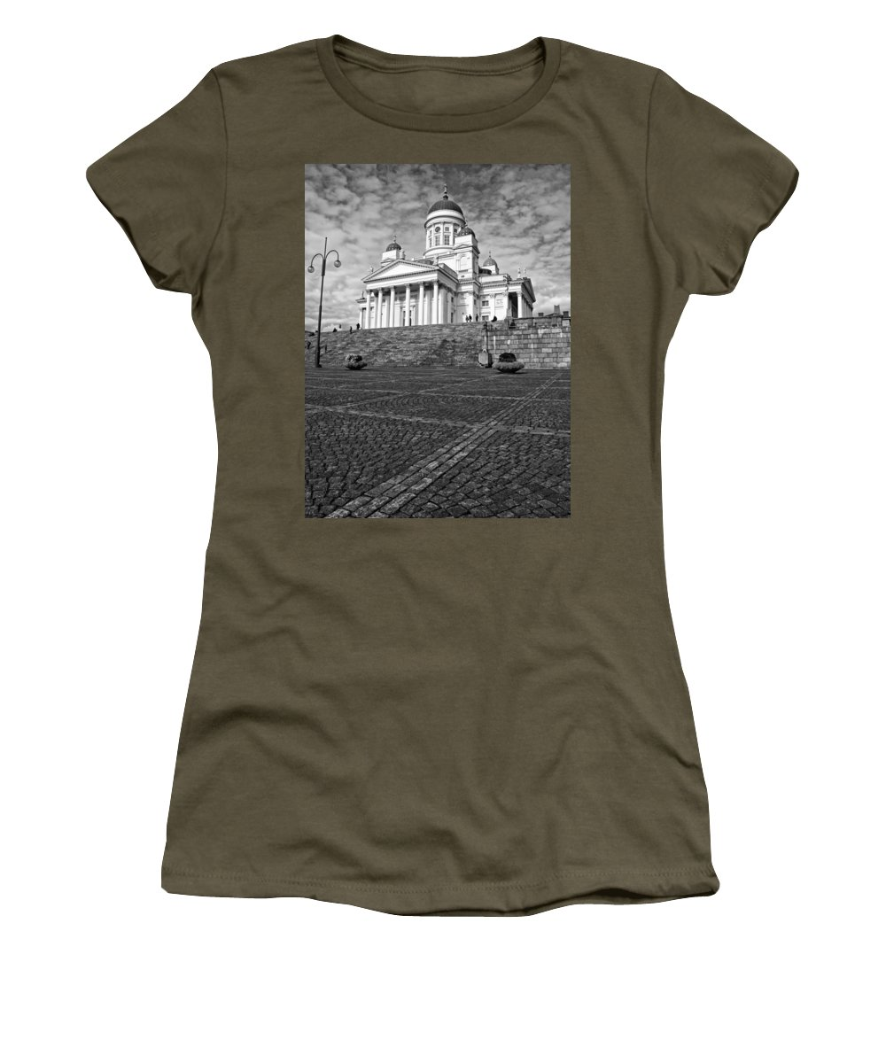 Architecture Women's T-Shirt featuring the photograph Helsinki Cathedral by Claudio Bacinello