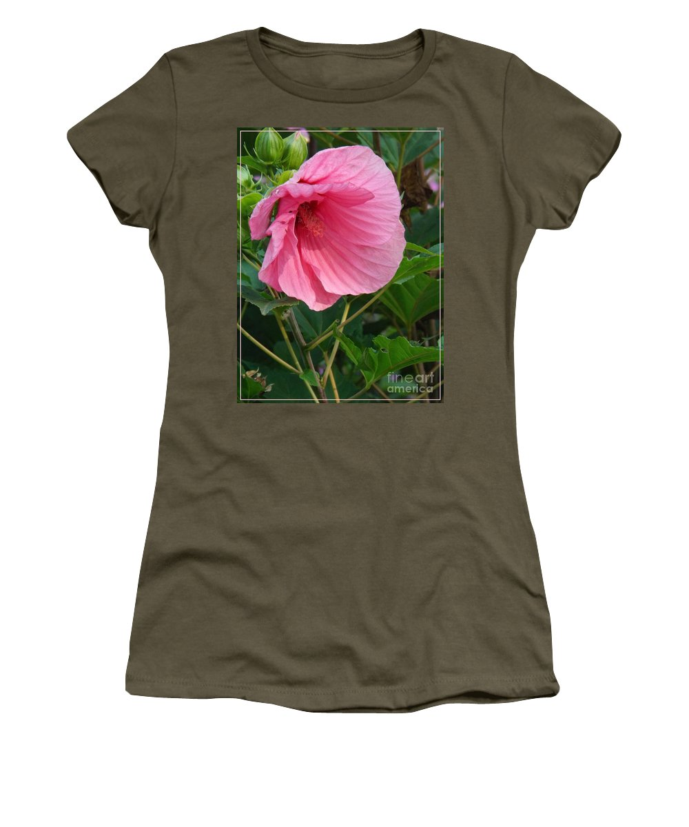 Flower Women's T-Shirt featuring the photograph Hibiscus Profile by Sara Raber