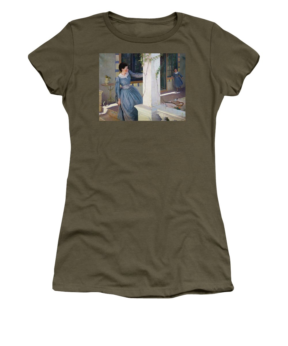 Hide Women's T-Shirt featuring the painting Hide And Seek by Paul Edouard Rosset Granger