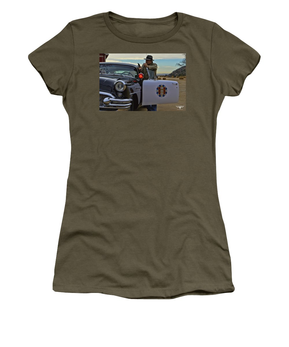 Highway Patrol Women's T-Shirt featuring the photograph Highway Patrol 6 by Tommy Anderson