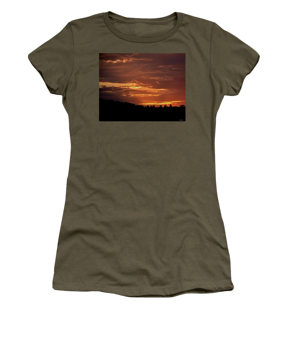 Hill Country Sunrise Women's T-Shirt (Athletic Fit) featuring the photograph Hill Country Sunrise by Maria Urso