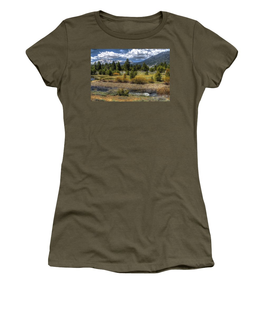 Landscape Women's T-Shirt featuring the photograph Hope Valley Wildlife Area by SC Heffner