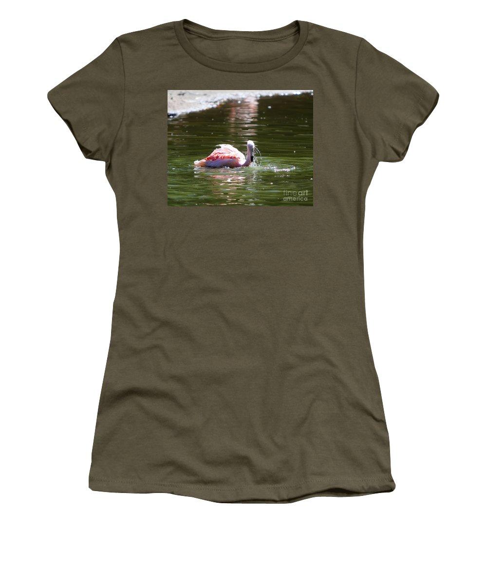 Flamingo Women's T-Shirt featuring the photograph Hot Summer Days by Rick Kuperberg Sr