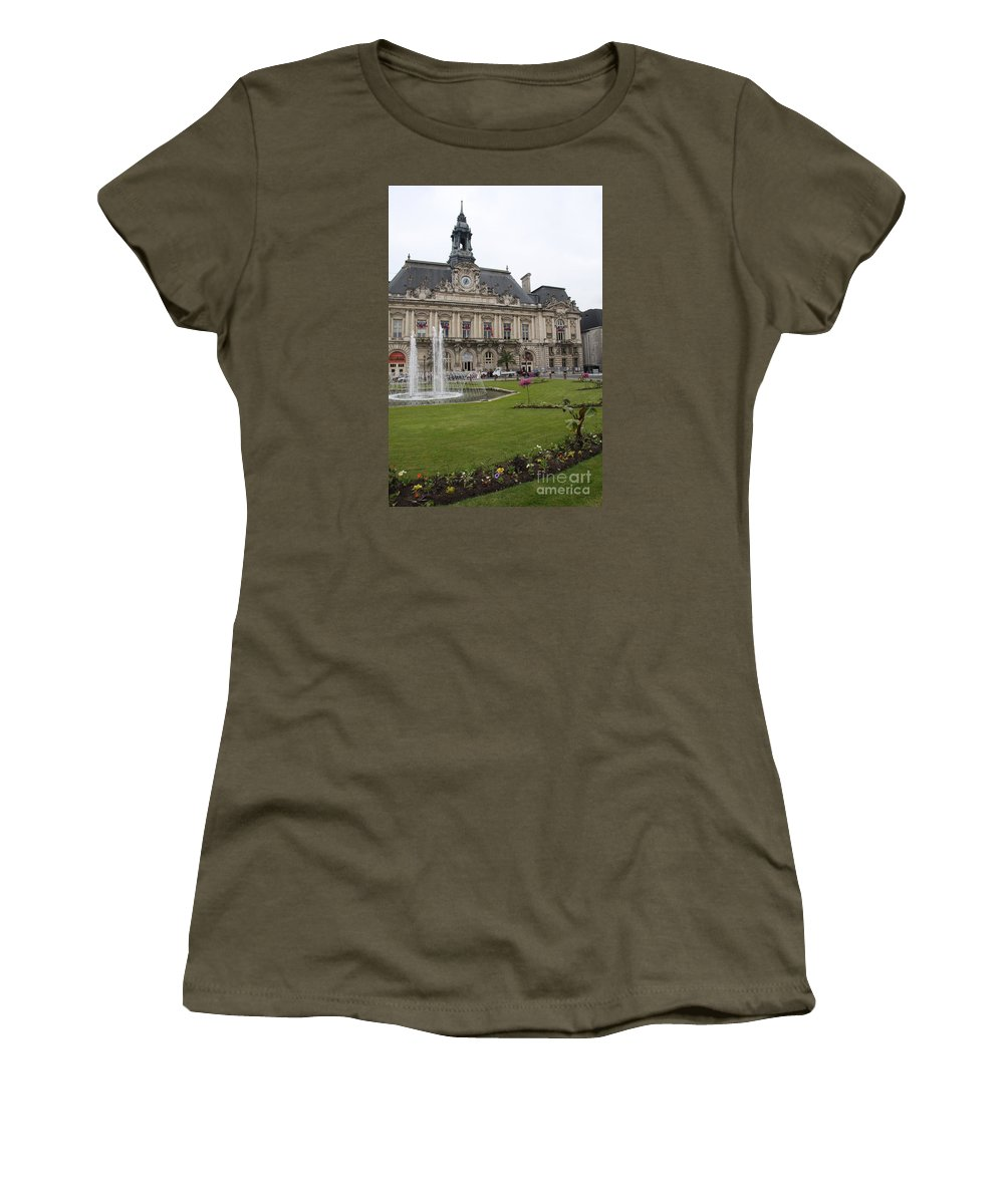 City Hall Women's T-Shirt featuring the photograph Hotel De Ville - Tours by Christiane Schulze Art And Photography