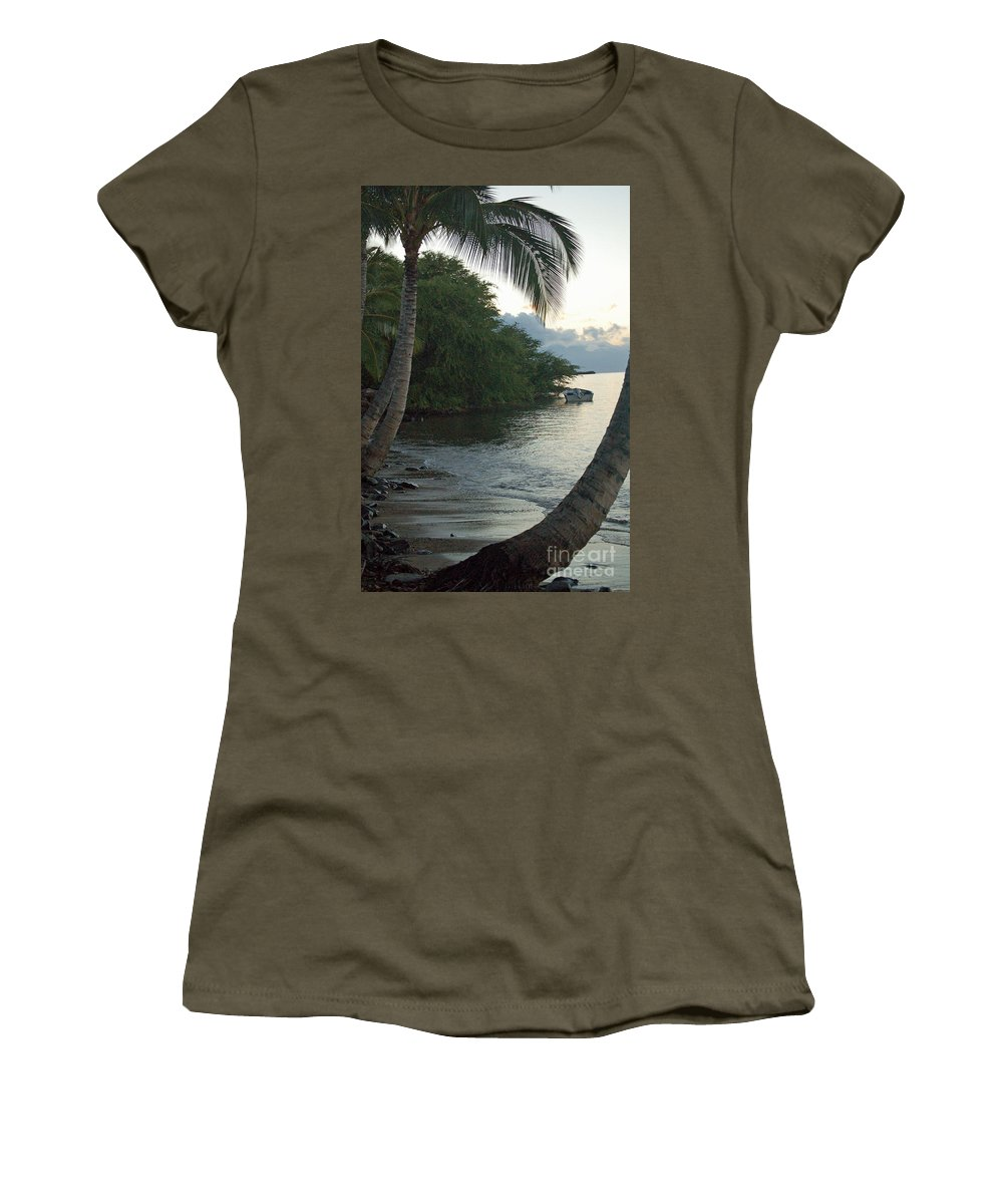 Sand Women's T-Shirt featuring the photograph Hotel Molokai Beach by Terry Holliday