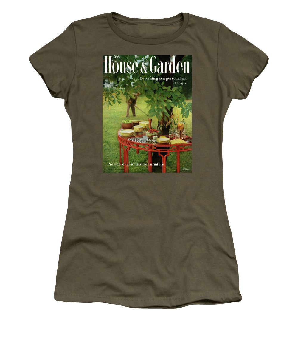 Landscape Women's T-Shirt featuring the photograph House And Garden Cover by Horst P. Horst