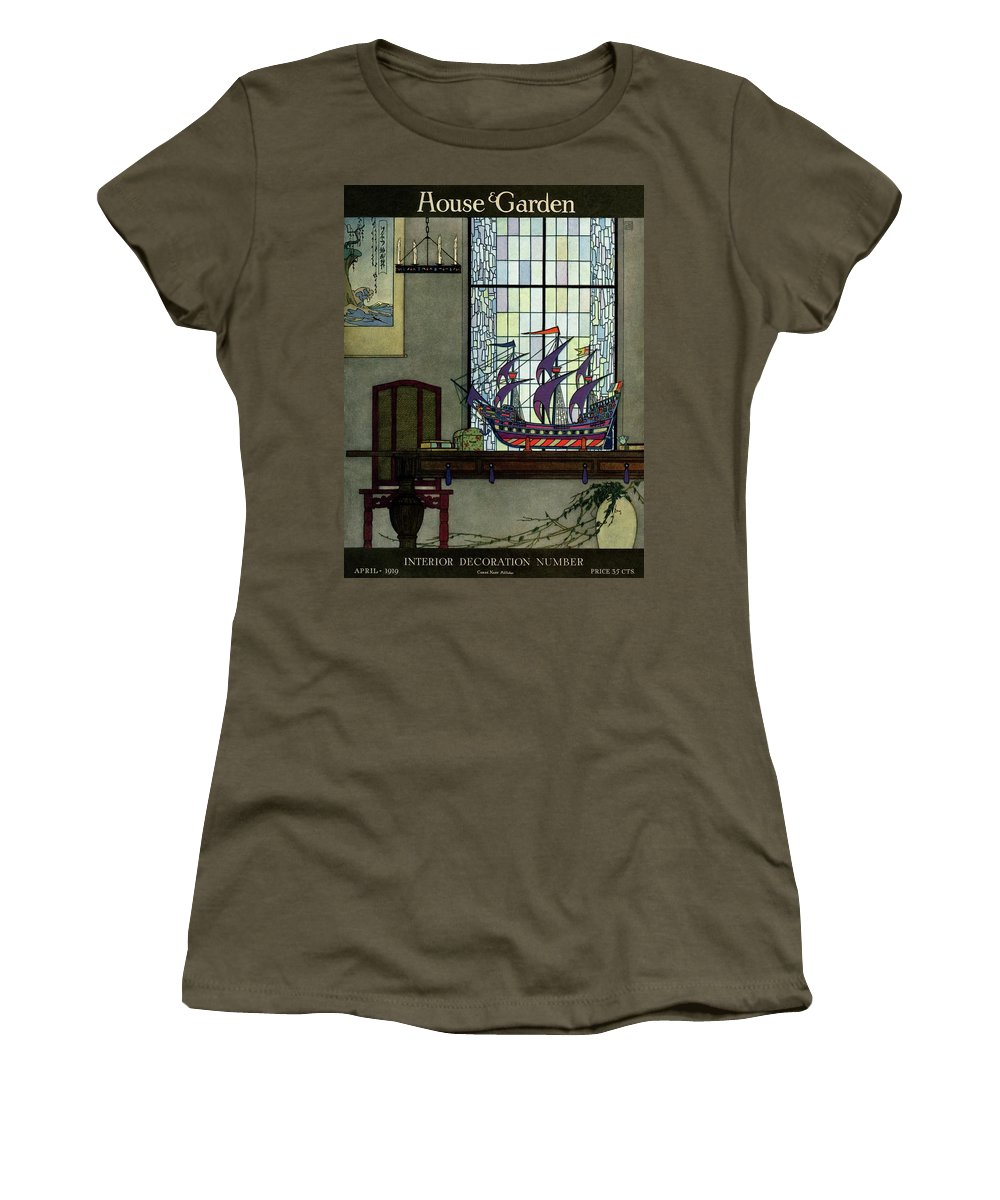 House And Garden Women's T-Shirt featuring the photograph House And Garden by Harry Richardson