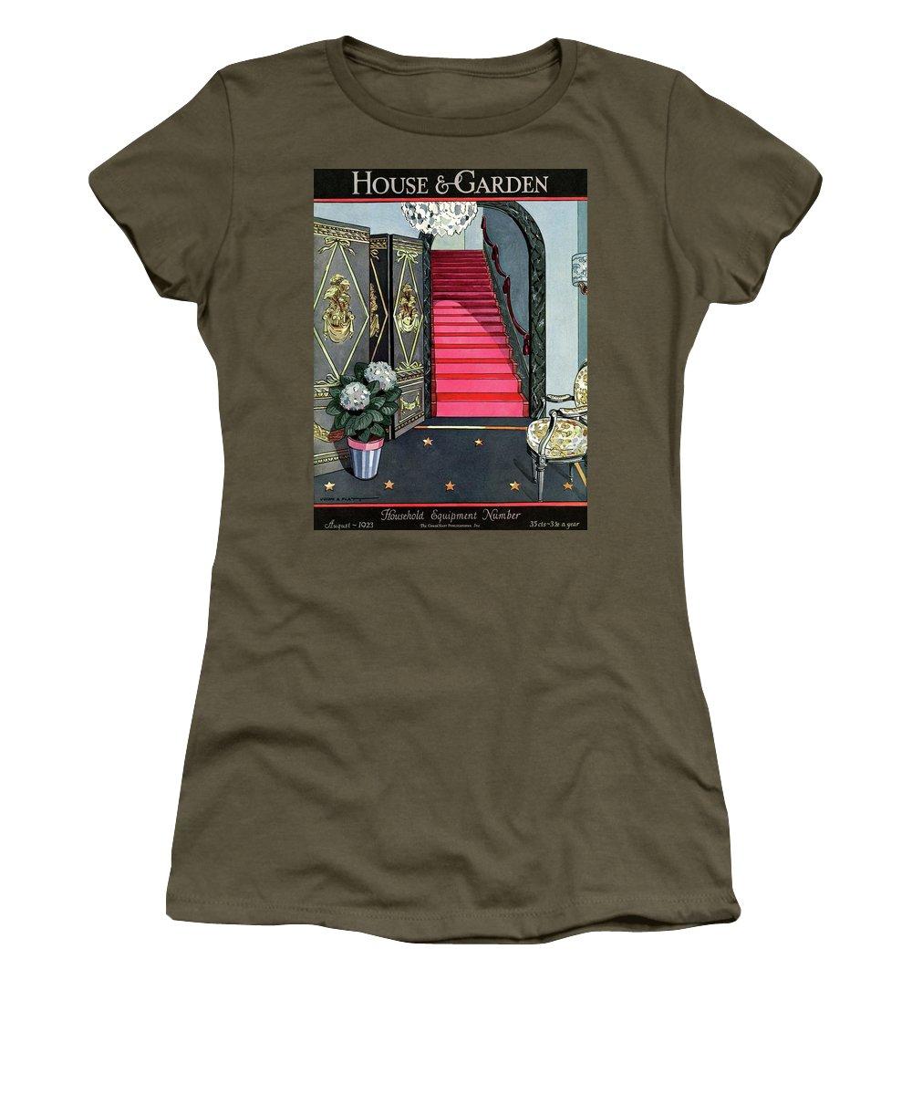 House And Garden Women's T-Shirt featuring the photograph House And Garden Household Equipment Number Cover by Joseph B. Platt