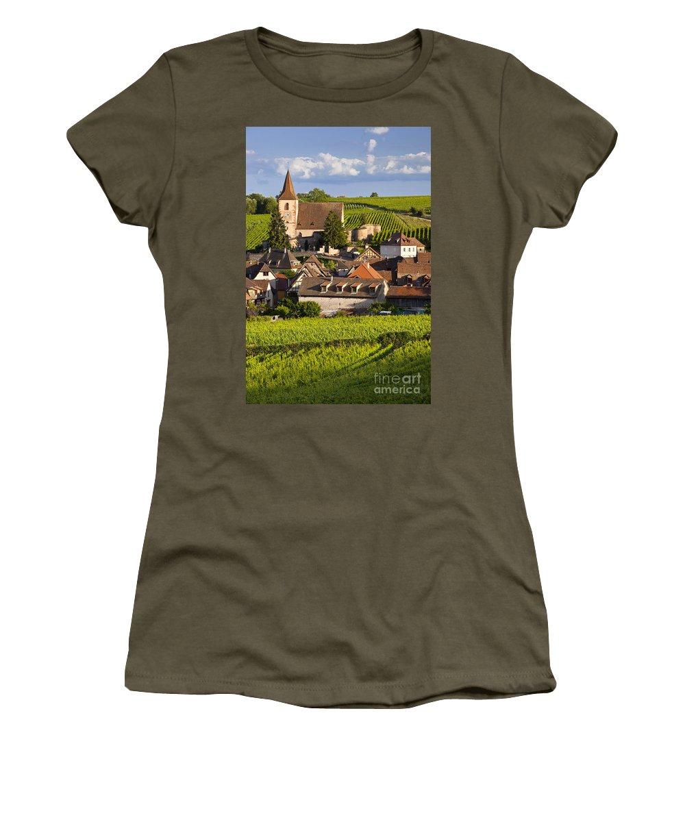 Alsace Women's T-Shirt featuring the photograph Hunawihr by Brian Jannsen
