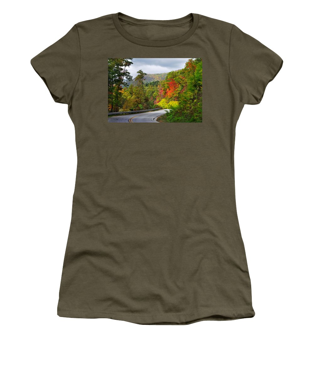 Landscapes Women's T-Shirt featuring the photograph Hwy 281 In The Fall by Duane McCullough