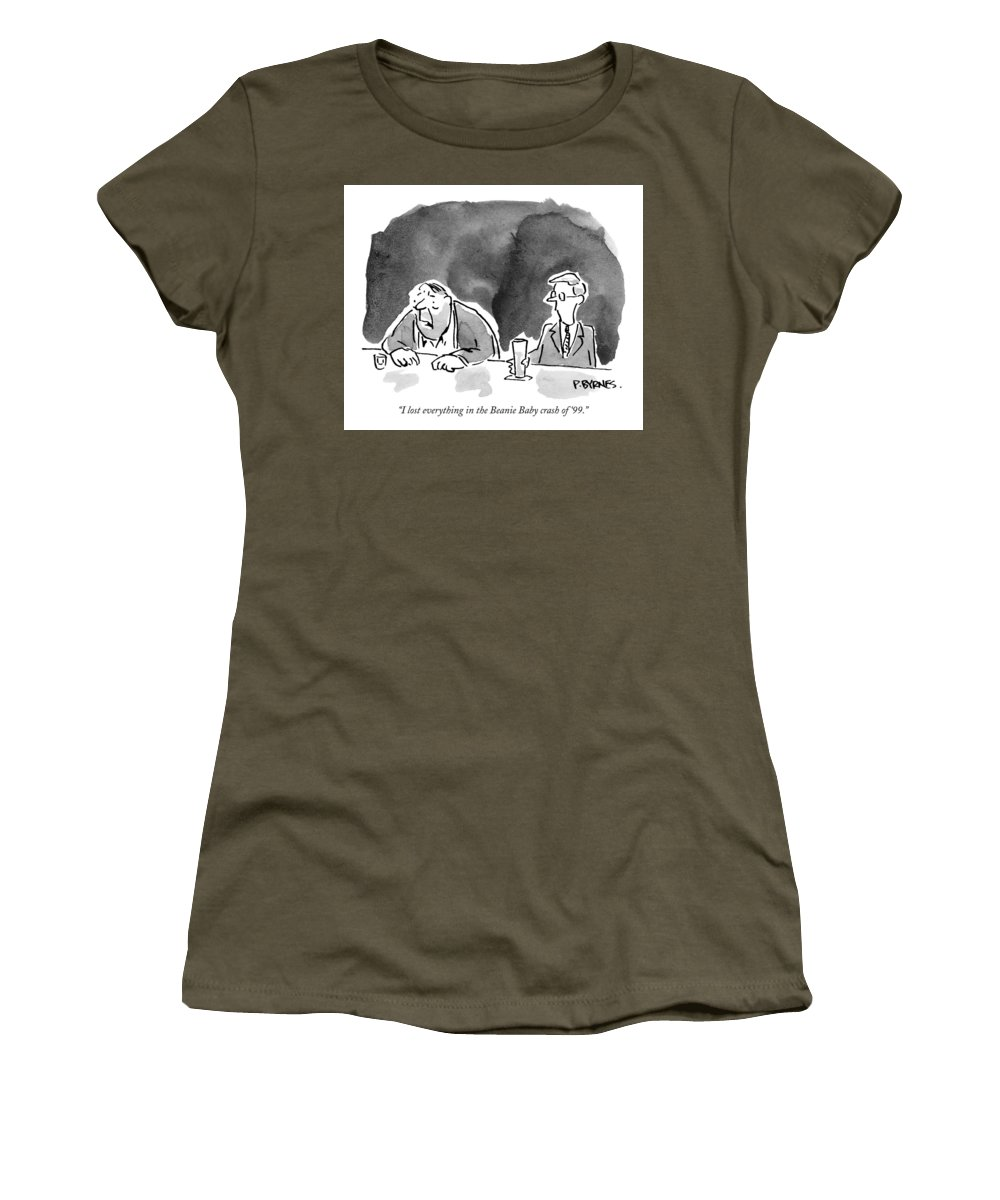 15e0b04aeaf Stocks Women s T-Shirt featuring the drawing I Lost Everything In The Beanie  Baby Crash