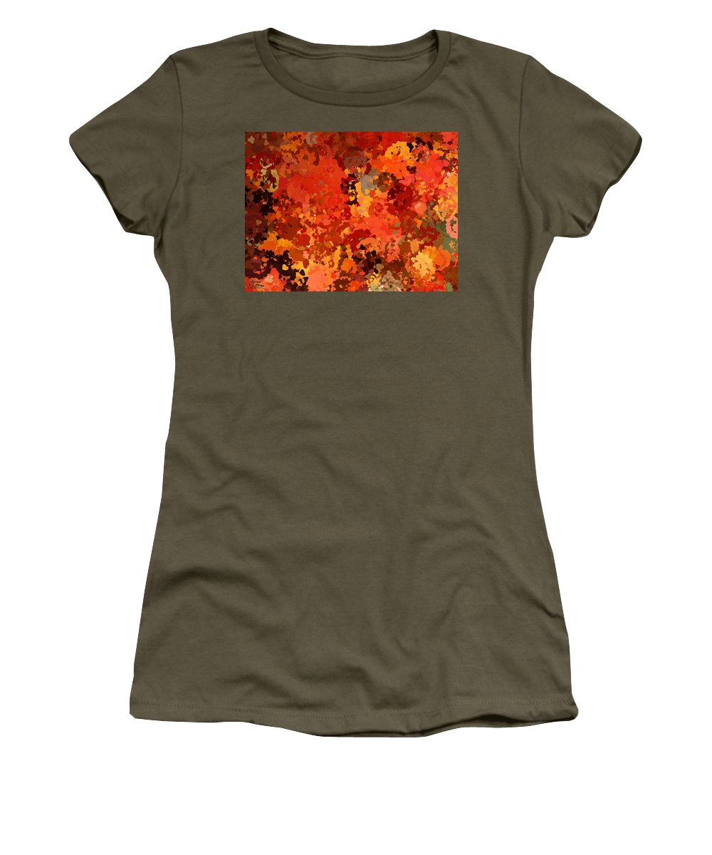 Hearts Women's T-Shirt featuring the painting I Love Autumn by Bruce Nutting