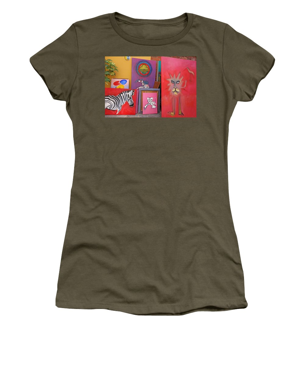 Am Homes Women's T-Shirt featuring the painting I Was Sitting Reading A M Homes by Charles Stuart