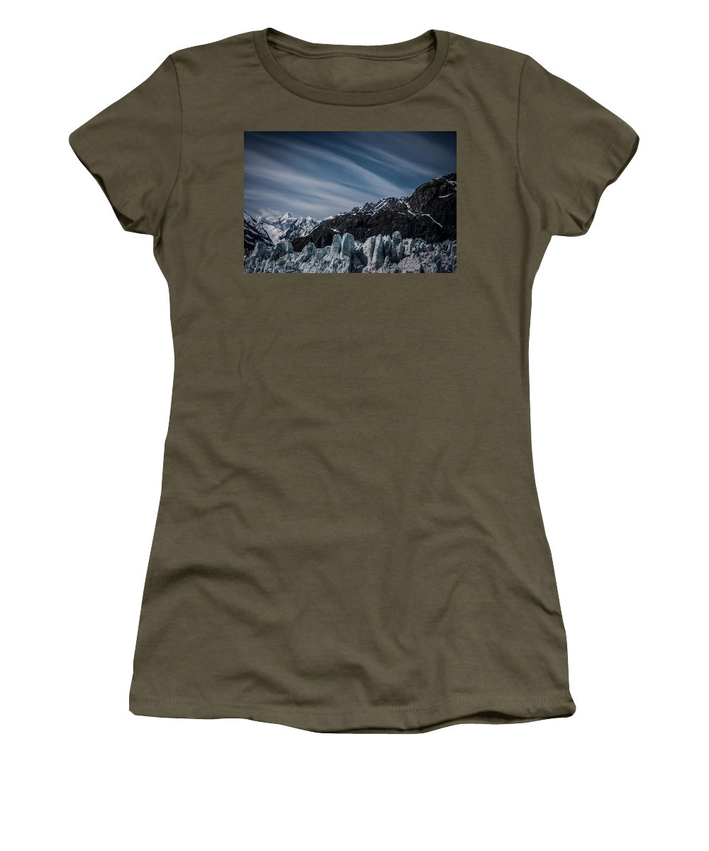Margerie Women's T-Shirt featuring the photograph Ice And Sky With My Little Eye by Dayne Reast