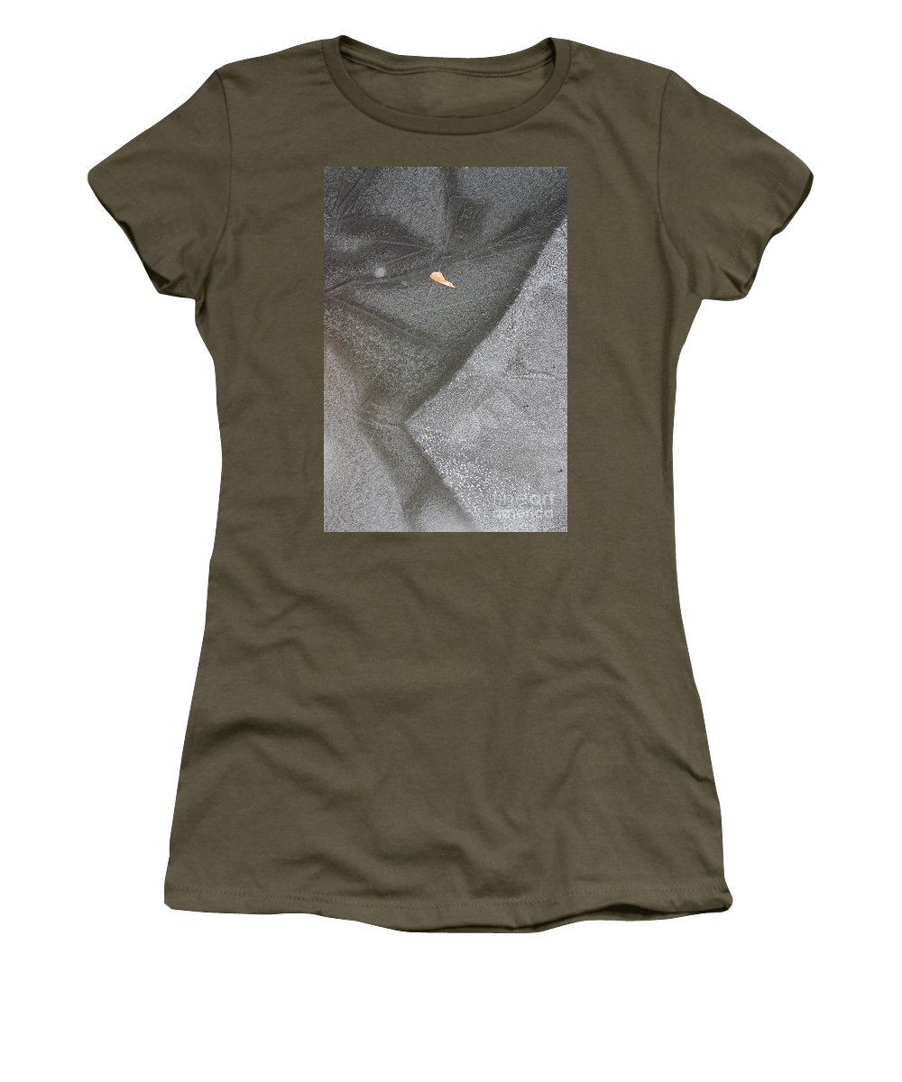 Ice Women's T-Shirt featuring the photograph ice by Steven Ralser