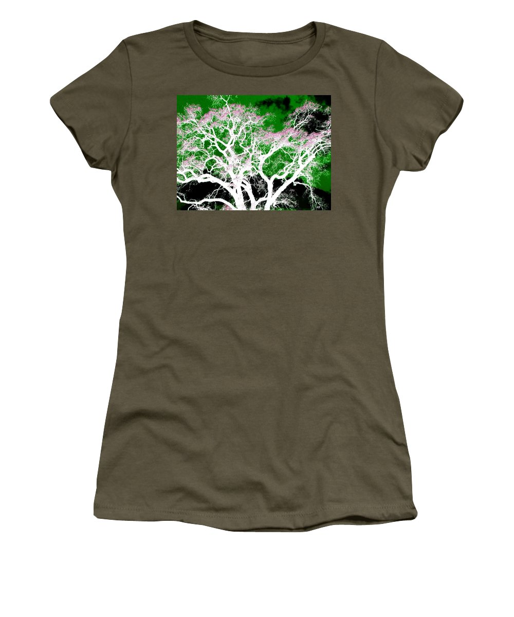 Impressions Women's T-Shirt featuring the digital art Impressions 1 by Will Borden