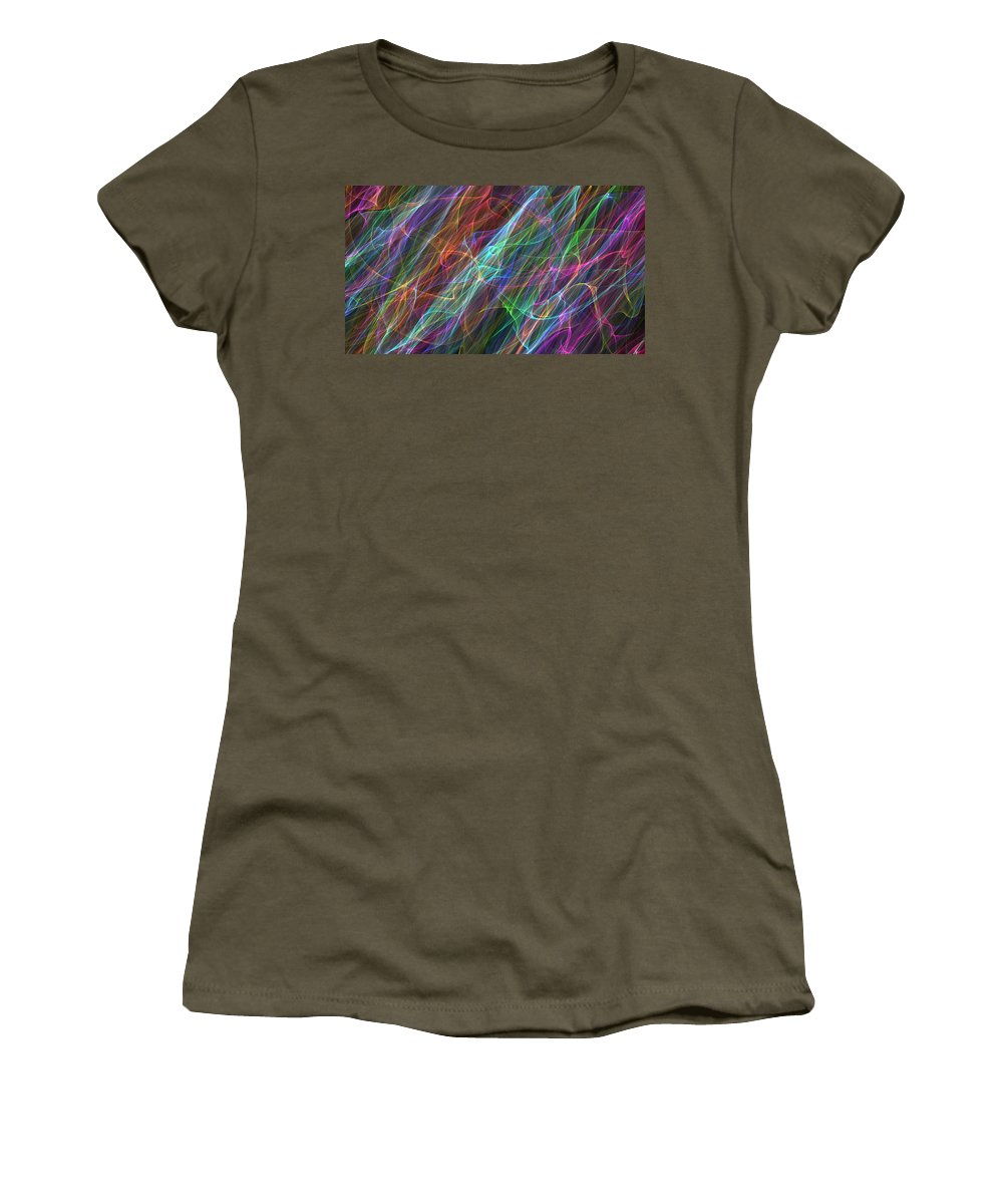 Flowing Women's T-Shirt featuring the painting In A Daze by Bruce Nutting