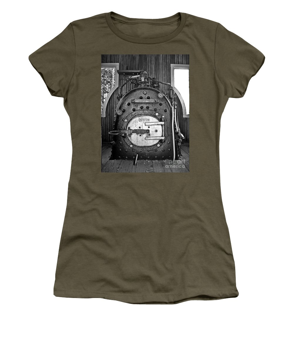 Engine Women's T-Shirt featuring the photograph In Control B by Sara Raber