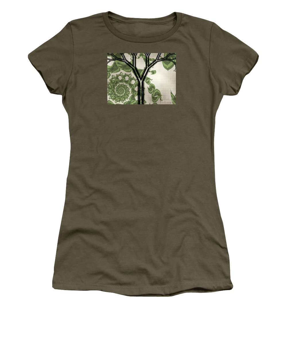 In Like A Lion Women's T-Shirt (Athletic Fit) featuring the digital art In Like A Lion by Kimberly Hansen