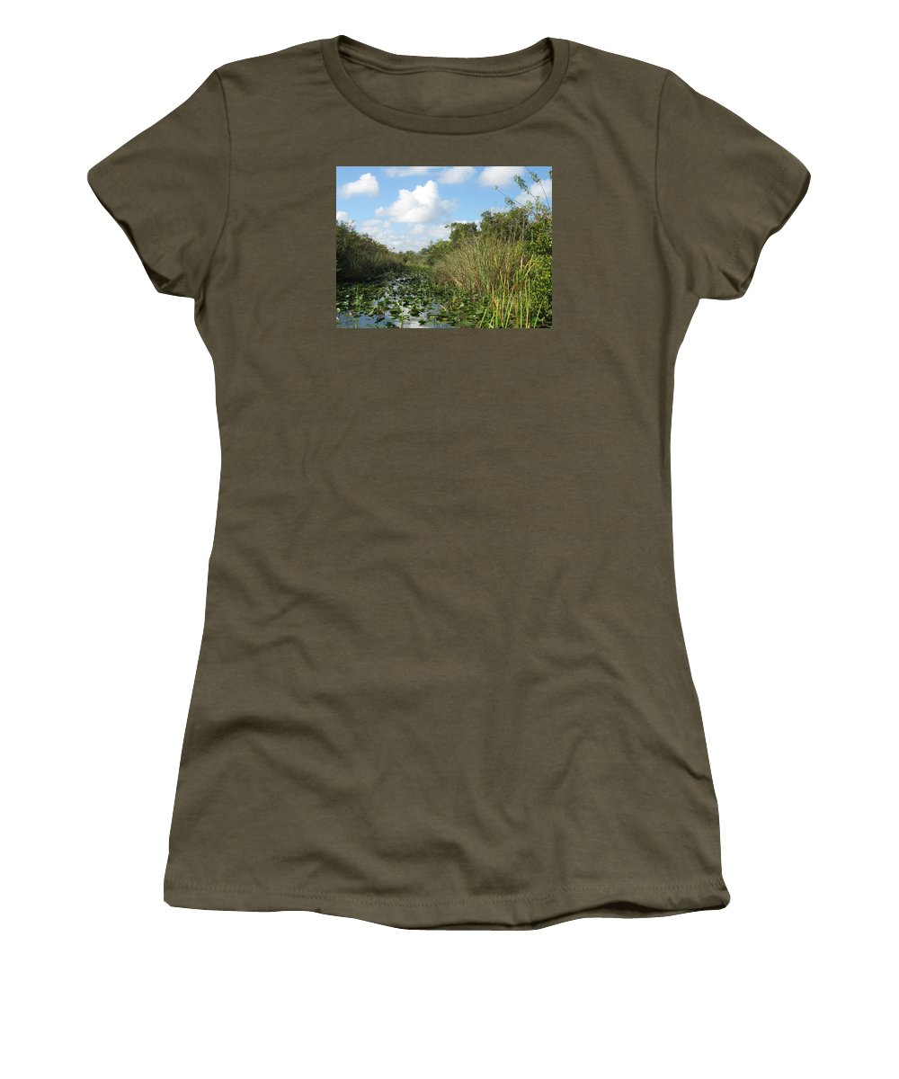 Everglades Women's T-Shirt featuring the photograph In The Everglades by Christiane Schulze Art And Photography