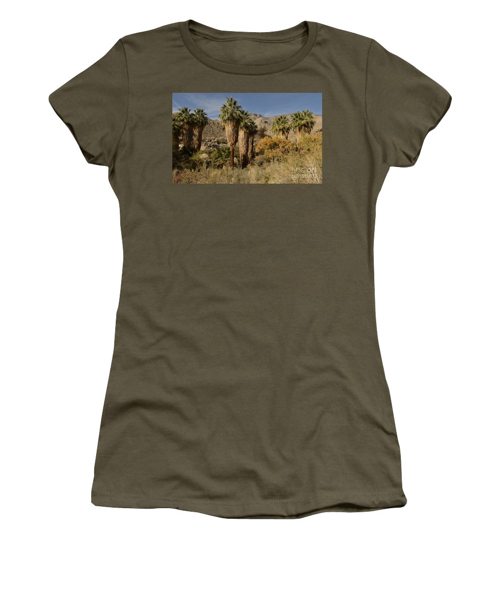 Indian Canyons Women's T-Shirt featuring the photograph Indian Canyons by Yinguo Huang