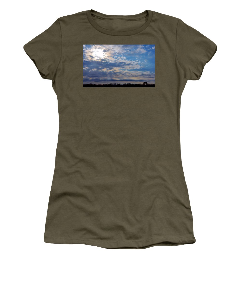 Michelle Women's T-Shirt (Athletic Fit) featuring the photograph Indiana Sunrise by Michelle McPhillips