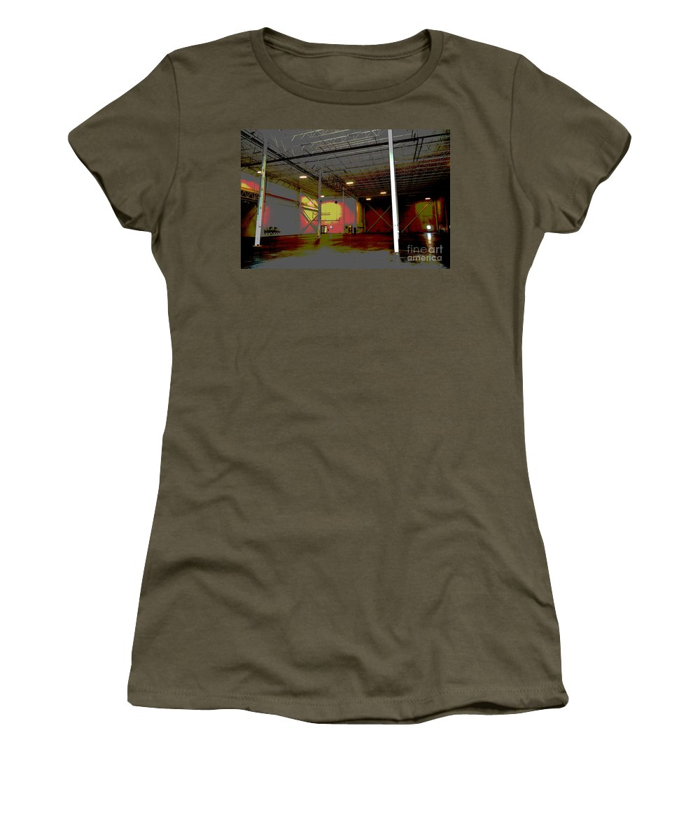Industrial Women's T-Shirt featuring the photograph Industrial 3 by Alys Caviness-Gober