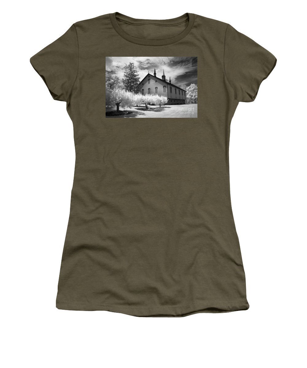 Infrared Women's T-Shirt featuring the photograph Infrared Barn by Paul W Faust - Impressions of Light