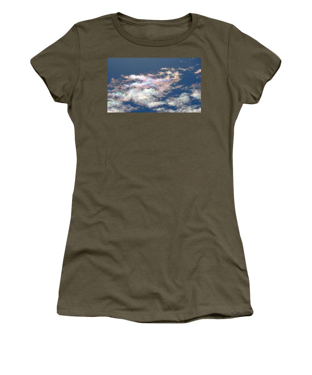 Cloud Women's T-Shirt featuring the photograph Iridescent Clouds by Greg Boutz