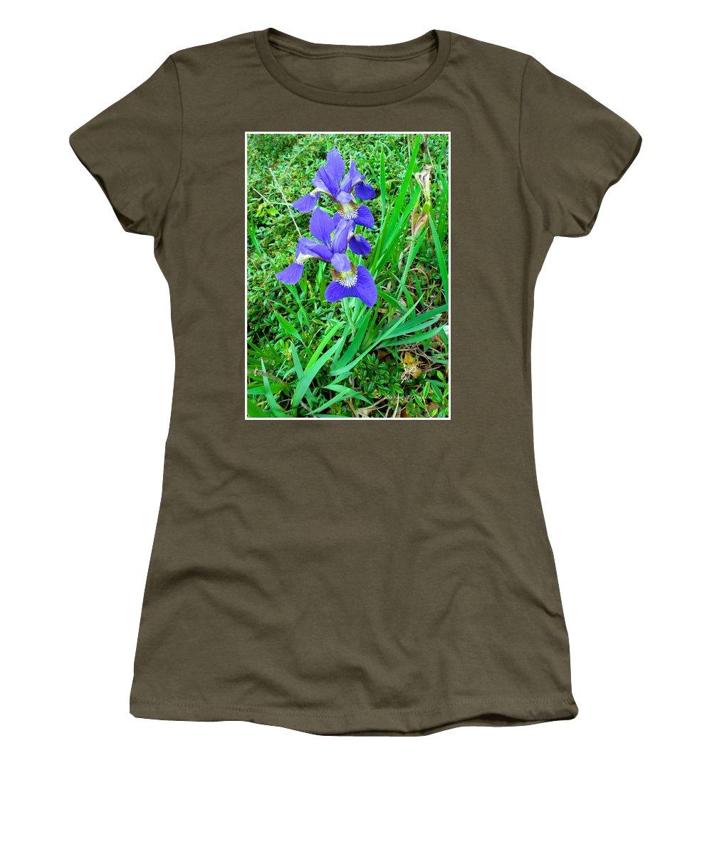 Iris Women's T-Shirt featuring the photograph Iris Swirl by Kendall Kessler