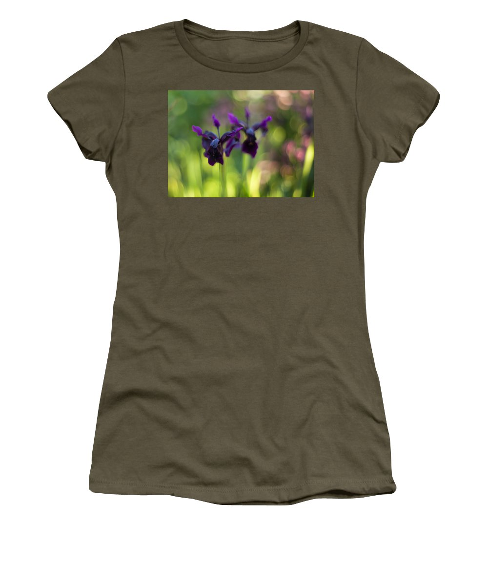 Flower Women's T-Shirt featuring the photograph Irises Depth by Mike Reid